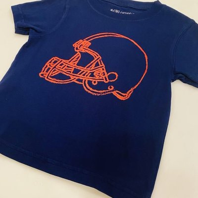 MUSTARD AND KETCHUP KIDS NAVY/RED HELMET SHORT SLEEVE TEE
