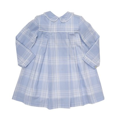 THE OAKS APPAREL COMPANY QUINN BLUE PLAID LS DRESS
