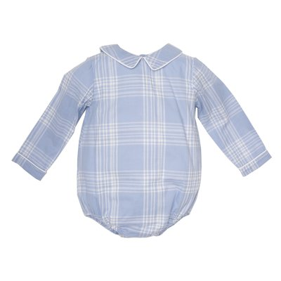 THE OAKS APPAREL COMPANY SAM BLUE PLAID LS BUBBLE