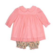 THE OAKS APPAREL COMPANY LEXIE HOT PINK FLORAL BLOOMER SET