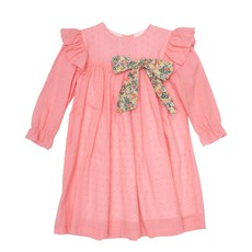 THE OAKS APPAREL COMPANY SIENNA HOT PINK FLORAL DRESS