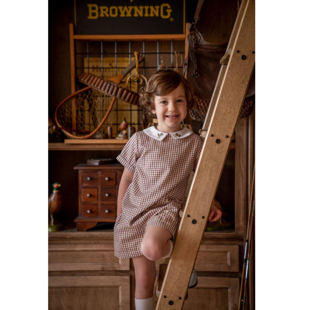 THE OAKS APPAREL COMPANY SAWYER BROWN PLAID DUCK PANT SET