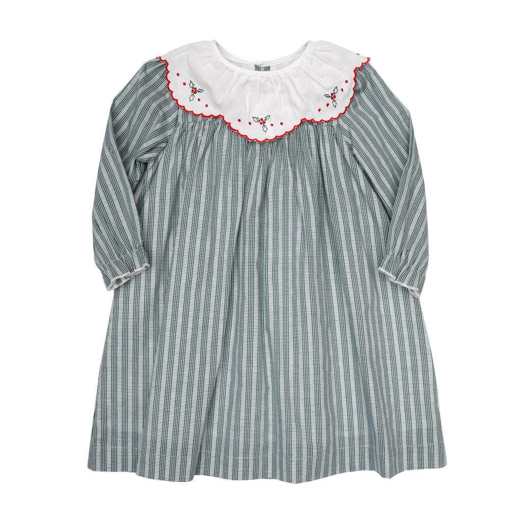 THE OAKS APPAREL COMPANY CHARITY HUNTER GREEN STRIPE DRESS