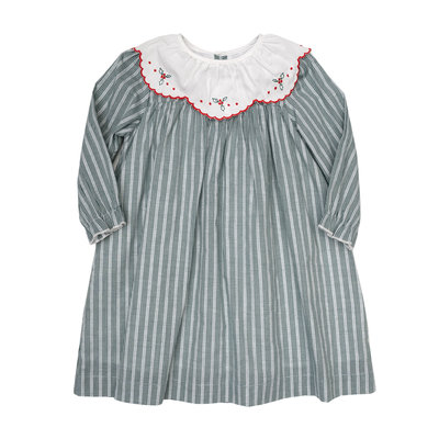 THE OAKS APPAREL COMPANY CHARITY HUNTER GREEN STRIPE DRESS