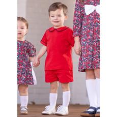 THE OAKS APPAREL COMPANY COLTON RED SHORT SET