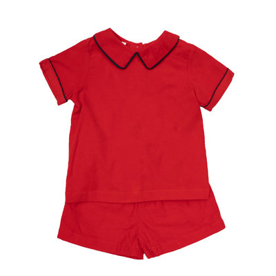 THE OAKS APPAREL COMPANY COLTON RED SHORT SET