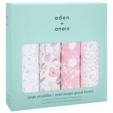 ADEN + ANAIS 4PK CLASSIC SWADDLES - MON FLEUR