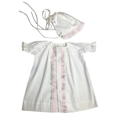 LULLABY SET TIMELESS DAYGOWN SET- WHITE/PINK