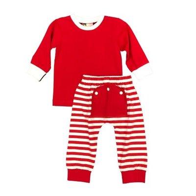 BANANA SPLIT BOYS RED MONO FLAP 2PC SET