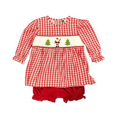 BANANA SPLIT CHRISTMAS TIME SMOCKED BLOOMER SET