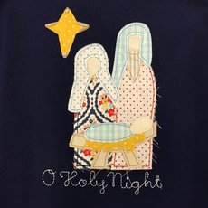 BANANA SPLIT O'HOLY NIGHT APPLIQUÉ DRESS