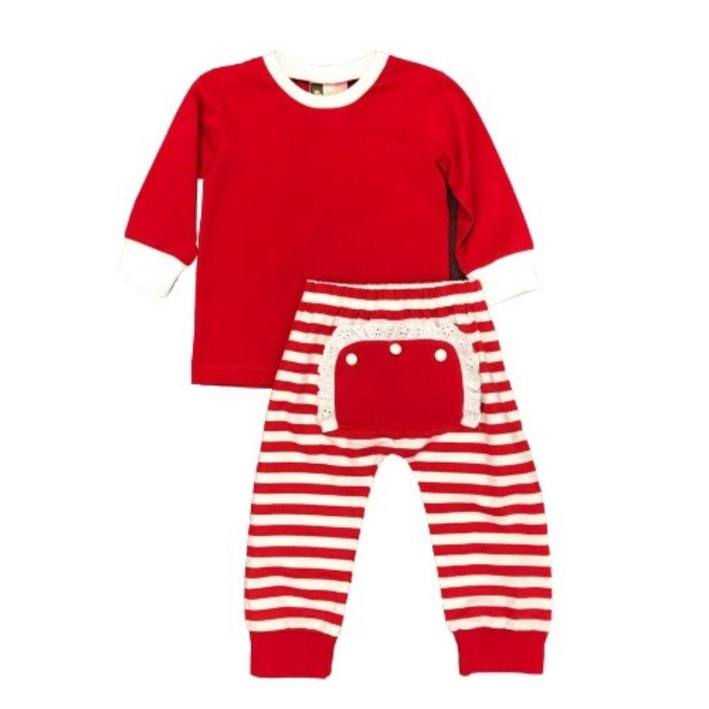 BANANA SPLIT GIRLS RED MONO FLAP 2PC SET