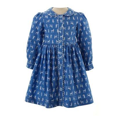 RACHEL RILEY LONDON POODLE BUTTON FRONT DRESS
