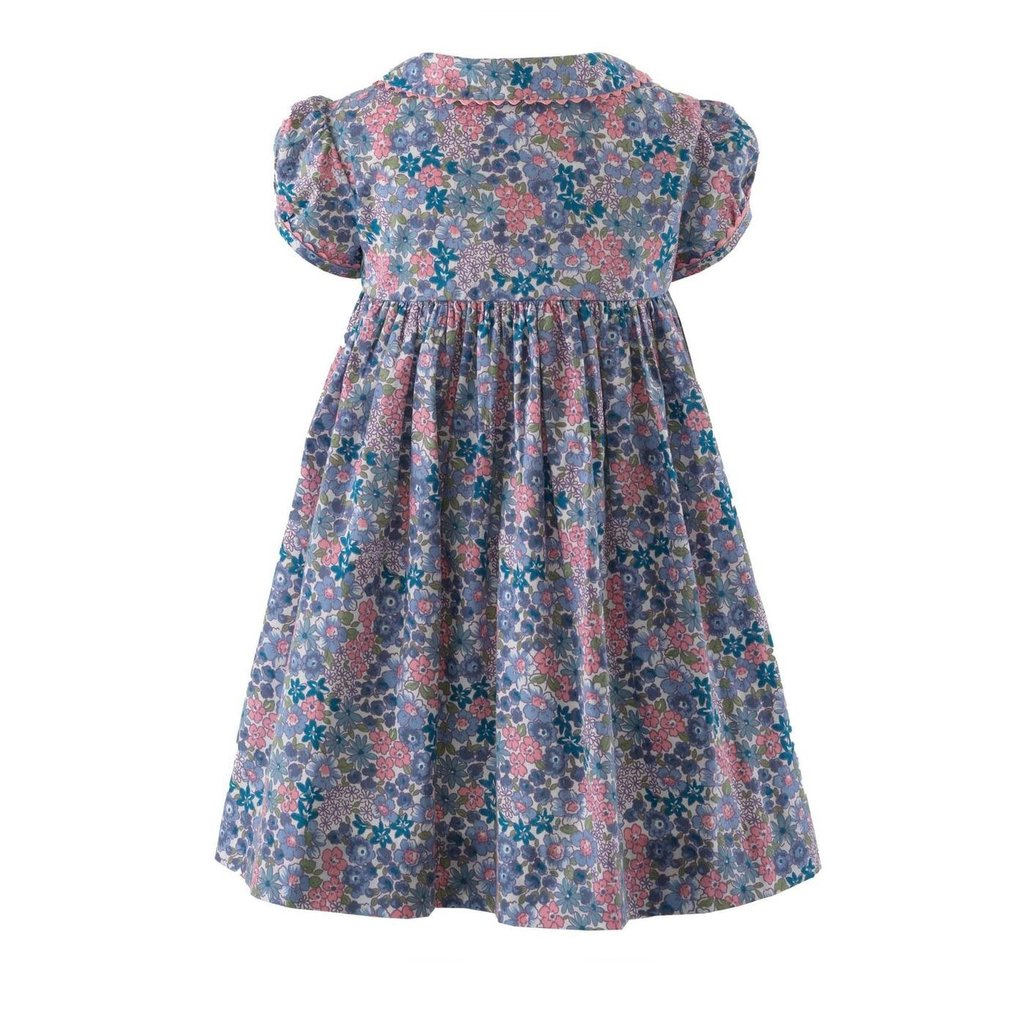 RACHEL RILEY LONDON WINTER FLORAL BUTTON FRONT DRESS AND BLOOMERS