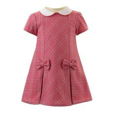 RACHEL RILEY LONDON CHECKED SHIFT DRESS- PINK