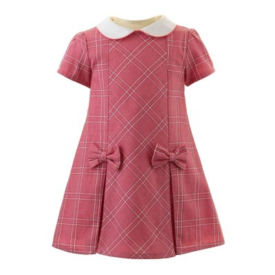RACHEL RILEY LONDON CHECKED SHIFT DRESS- PINK