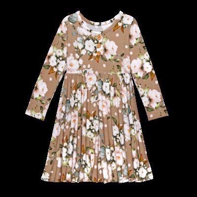POSH PEANUT LEONA - LS HENLEY TWIRL DRESS