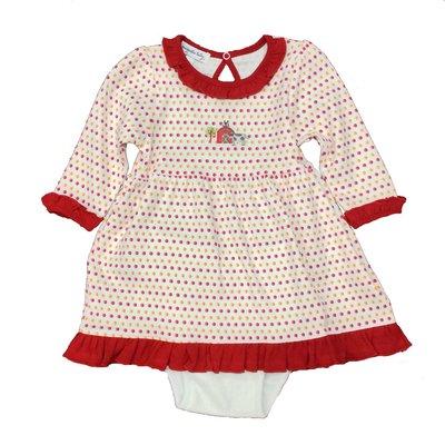 MAGNOLIA BABY FARMLAND EMB L/S DRESS SET