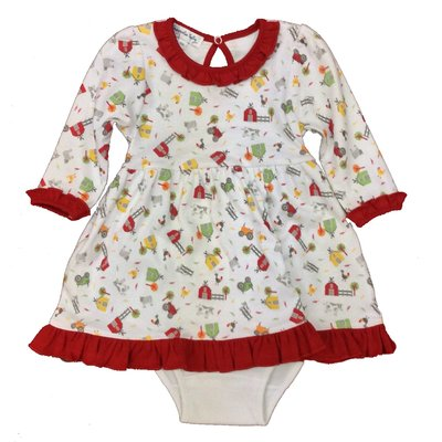 MAGNOLIA BABY FARMLAND PRINTED L/S DRESS SET