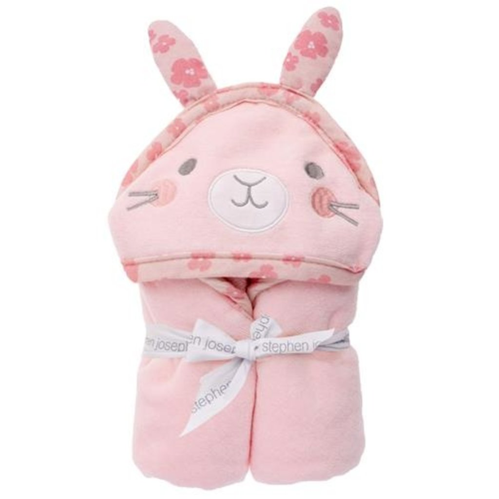 Stephen Joseph HOODED BATH TOWEL - BUNNY