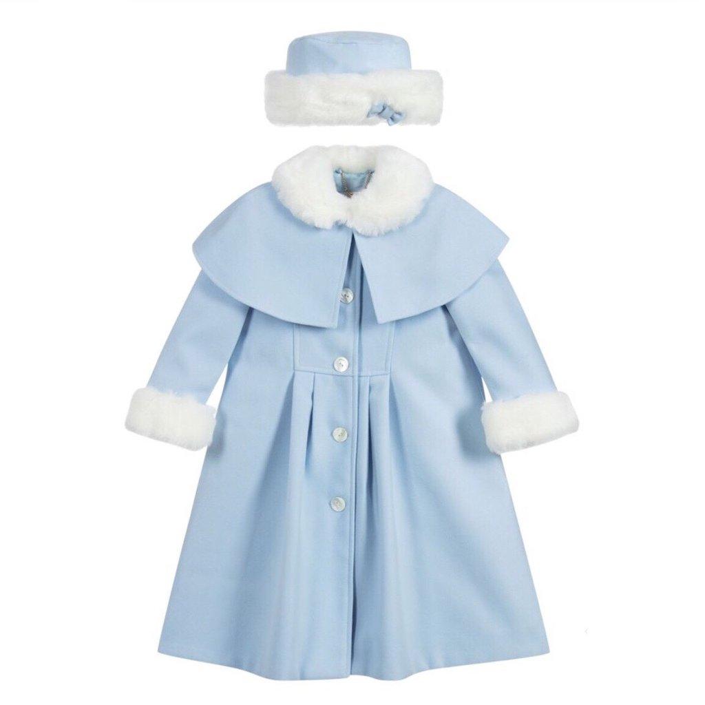 SARAH LOUISE COAT AND HAT- BLUE