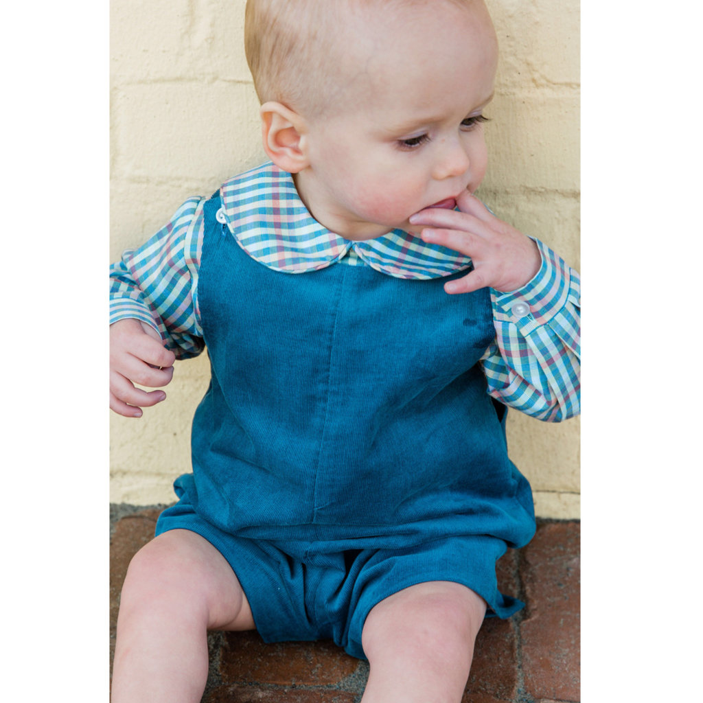 BAILEY BOYS JOHN JOHN SHORT W TAB- STEEL BLUE CORD