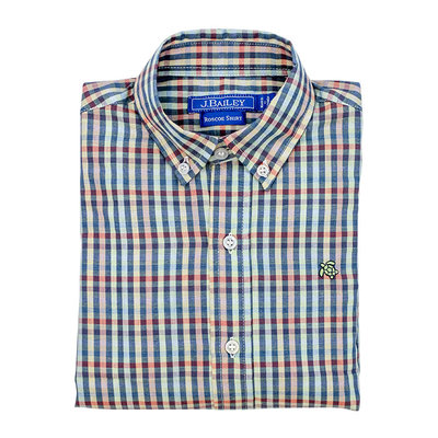 J.BAILEY BUTTON DOWN SHIRT- KALEIDOSCOPE PLAID