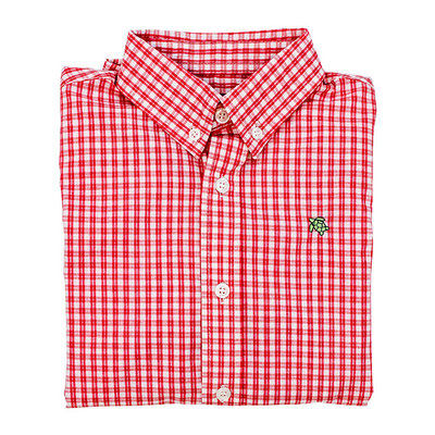 J.BAILEY BUTTON DOWN SHIRT- CARDINAL WINDOWPANE