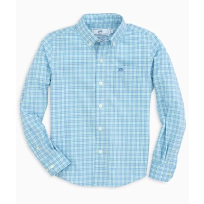SOUTHERN TIDE YOUTH LS IC CRANE SPORTSHIRT