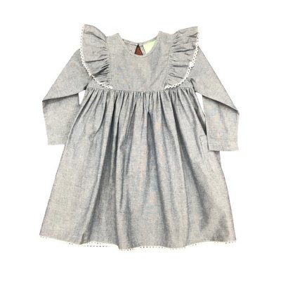 SAGE & LILLY ANGEL WING DRESS- CHAMBRAY