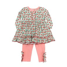 SAGE & LILLY AQUA FLORAL- SWING TOP WITH LEGGINGS