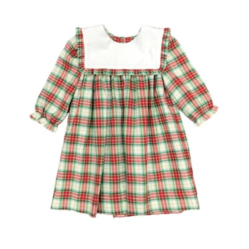 HONESTY SQUARE COLLAR DRESS- PLAID