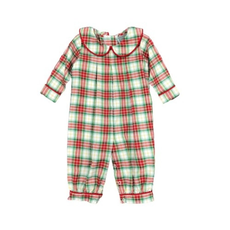 HONESTY BOYS PLEATED BUBBLE- CHRISTMAS PLAID