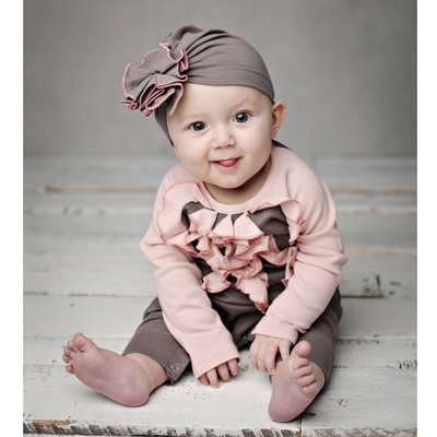 LEMON LOVES LAYETTE COCO SASSY ROMPER AND HAT SET