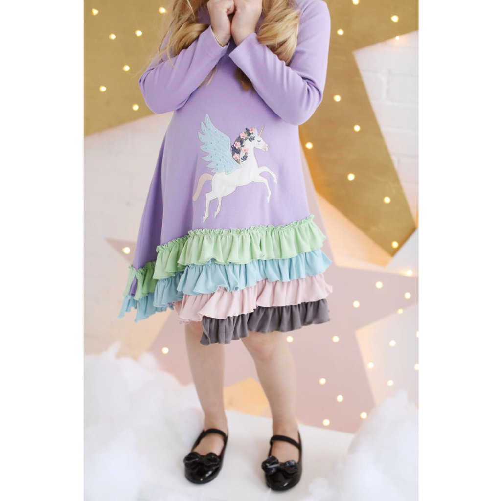 LEMON LOVES LIME DREAMY UNICORN DRESS