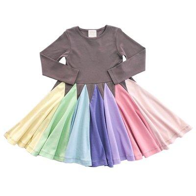 LEMON LOVES LIME PASTEL CRAYON TWIRL DRESS
