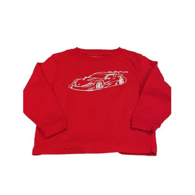 MUSTARD AND KETCHUP KIDS LS  RACE CAR TEE