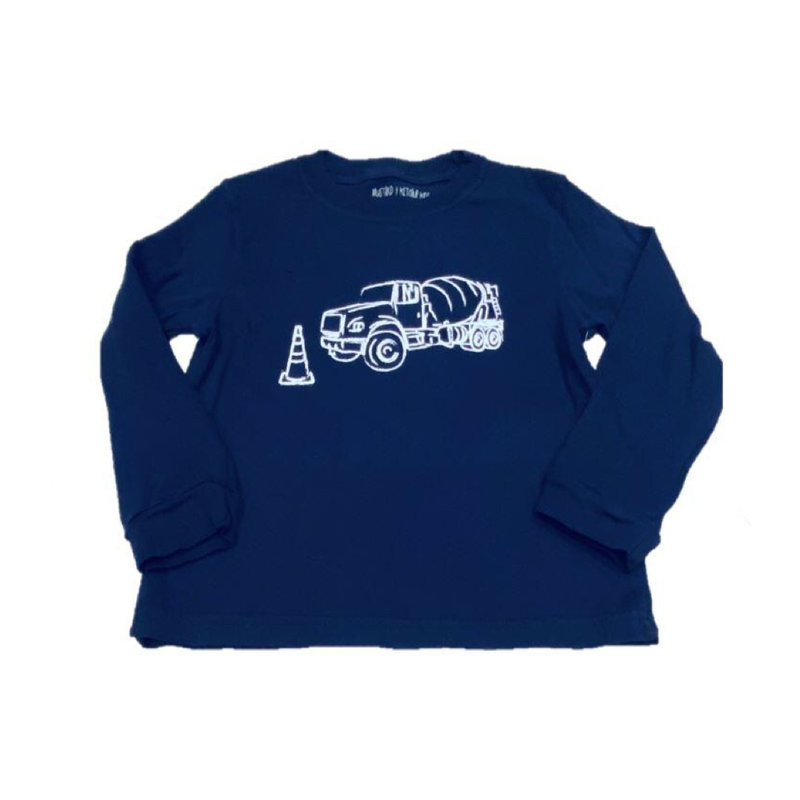 MUSTARD AND KETCHUP KIDS LS CEMENT TRUCK TEE