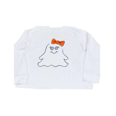 MUSTARD AND KETCHUP KIDS LS GIRL GHOST TEE
