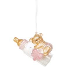 Ganz BABY BOTTLE SNOW FILLED ORNAMENT