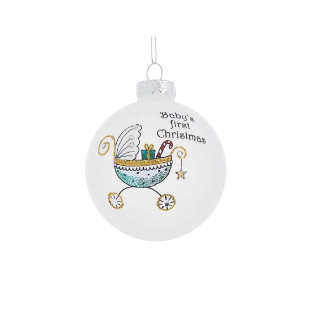 Ganz BABY'S 1ST CHRISTMAS BUGGY ORNAMENT