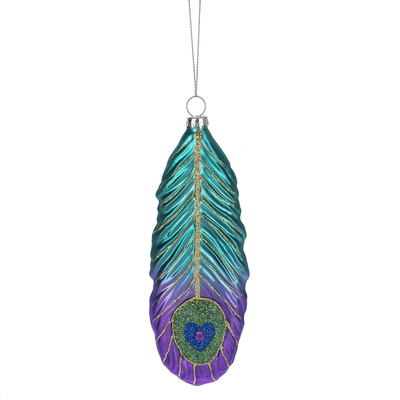 Ganz PEACOCK FEATHER ORNAMENT