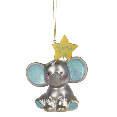 Ganz BABY'S 1ST ELEPHANT ORNAMENT