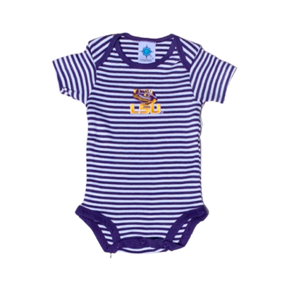 CREATIVE KNITWEAR STRIPED BODYSUIT- LSU
