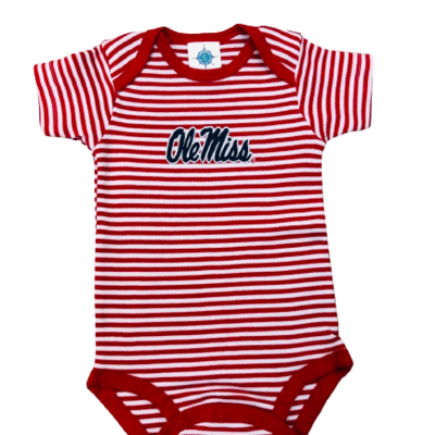 CREATIVE KNITWEAR STRIPED BODYSUIT- OLE MISS