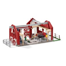 SCHLEICH LARGE FARM WITH BLACK ANGUS