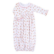 MAGNOLIA BABY AUTUMN'S CLASSICS PRNTD RUFFLE GATHERED GOWN