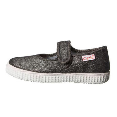 CIENTA SHOES GREY SPARKLE MARY JANE