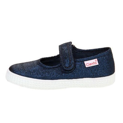 CIENTA SHOES NAVY SPARKLE MARY JANE