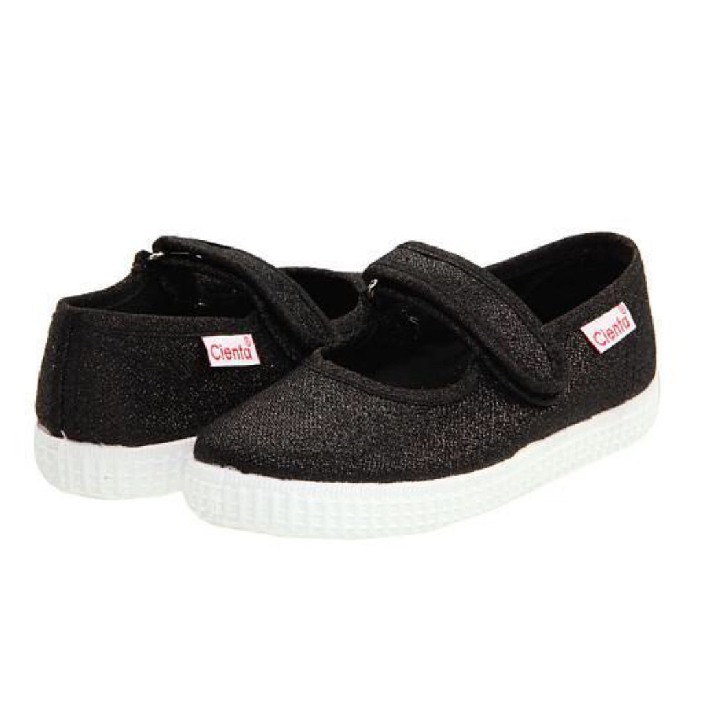 CIENTA SHOES BLACK SPARKLE MARY JANE